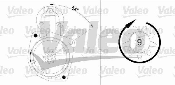 Starter 12 V VALEO 436021