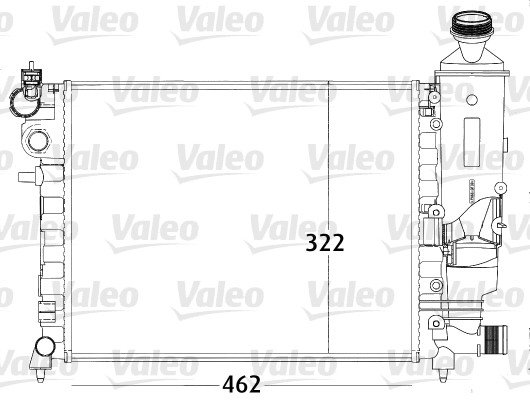 Kühler, Motorkühlung VALEO 731498