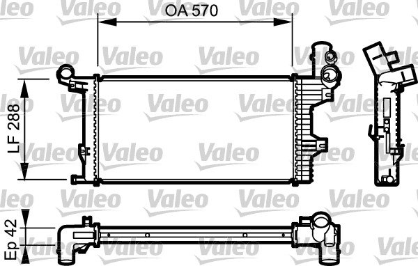 Kühler, Motorkühlung VALEO 732303