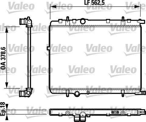 Kühler, Motorkühlung VALEO 732890