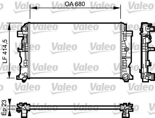 Kühler, Motorkühlung VALEO 734927