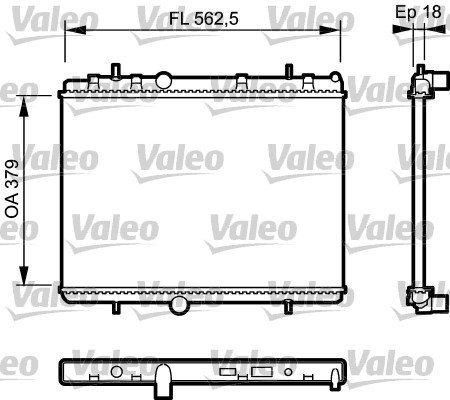 Kühler, Motorkühlung VALEO 735091