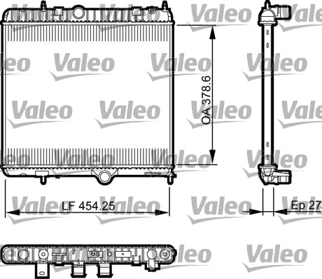Kühler, Motorkühlung VALEO 735560