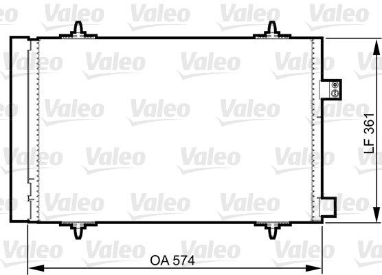 Kondensator, Klimaanlage VALEO 814363