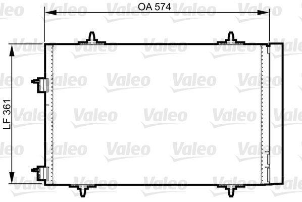 Kondensator, Klimaanlage VALEO 814365