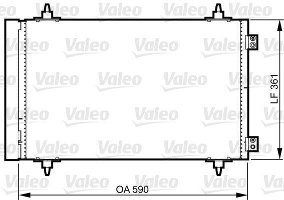 Kondensator, Klimaanlage VALEO 814366