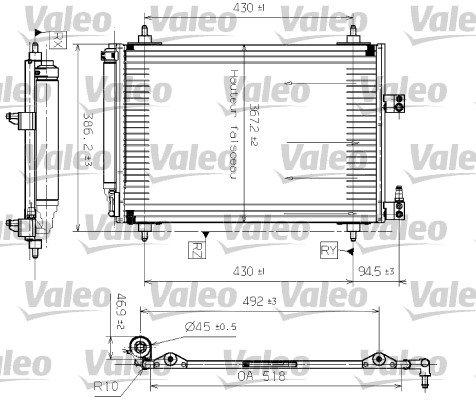Kondensator, Klimaanlage vorne VALEO 817465