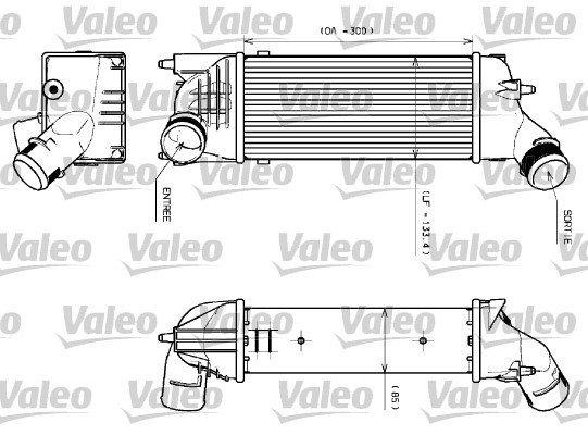 Ladeluftkühler VALEO 817639
