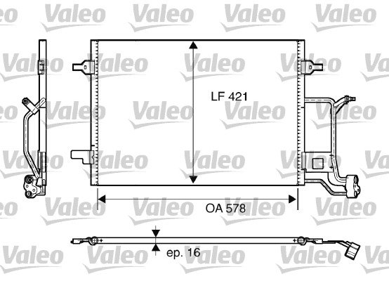 Kondensator, Klimaanlage VALEO 817840