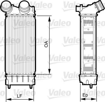 Ladeluftkühler VALEO 818226