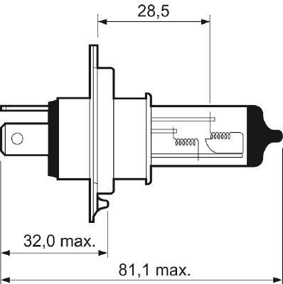 Glühlampe, Fernscheinwerfer 12 V VALEO 032007