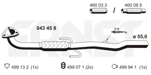 Abgasrohr vorne ERNST 043458