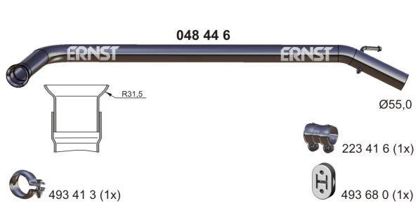 Abgasrohr mitte ERNST 048446