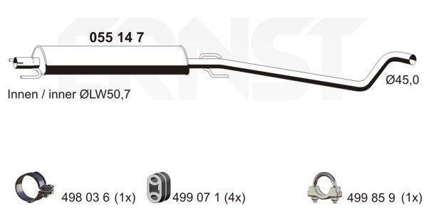 Mittelschalldämpfer ERNST 055147