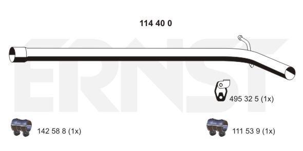 Abgasrohr mitte ERNST 114400