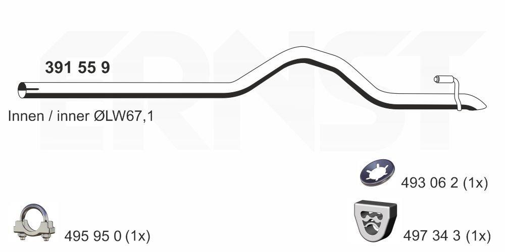 Abgasrohr hinten ERNST 391559