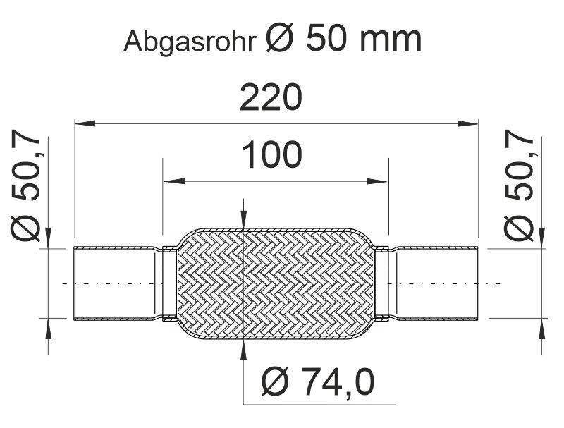 Flexrohr, Abgasanlage ERNST 460088 Bild 4