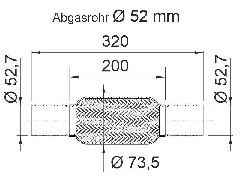 Flexrohr, Abgasanlage ERNST 460101 Bild 4