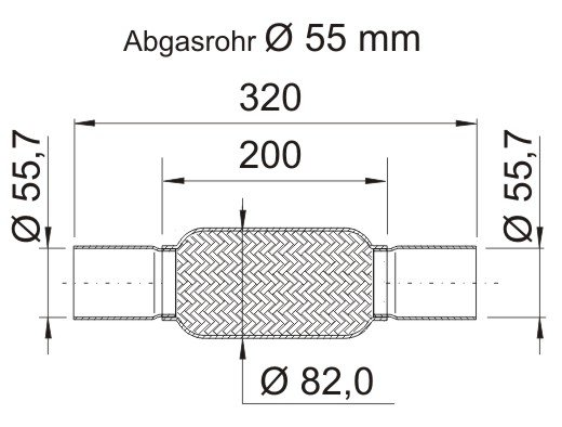 Flexrohr, Abgasanlage ERNST 460118 Bild 4