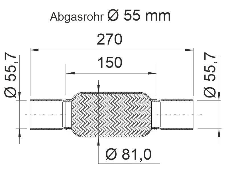 Flexrohr, Abgasanlage ERNST 460507 Bild 4