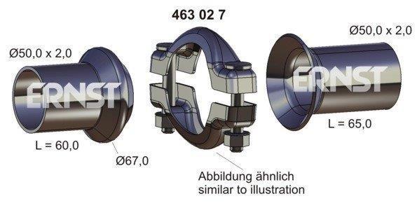 Reparatursatz, Abgasrohr ERNST 463027