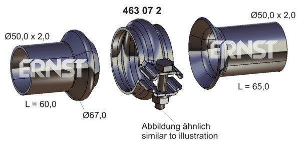 Reparatursatz, Abgasrohr ERNST 463072