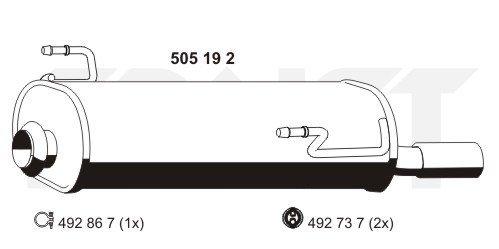 Endschalldämpfer ERNST 505192