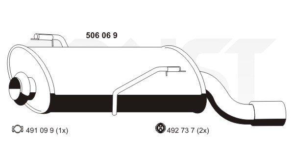 Endschalldämpfer ERNST 506069