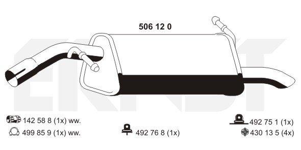 Endschalldämpfer ERNST 506120