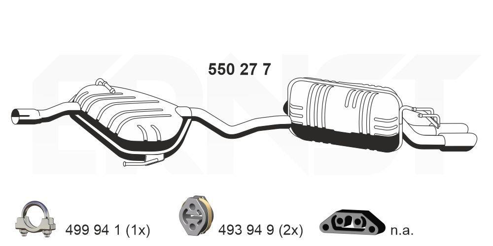 Endschalldämpfer ERNST 550277