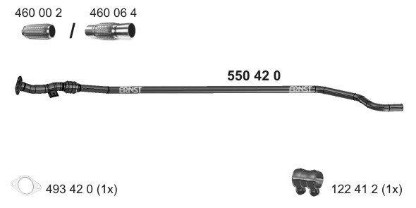 Abgasrohr mitte ERNST 550420
