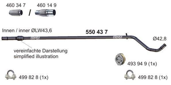 Abgasrohr mitte ERNST 550437