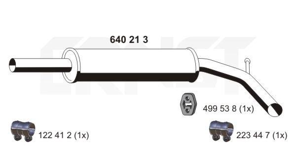 Mittelschalldämpfer ERNST 640213