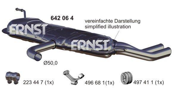 Endschalldämpfer ERNST 642064