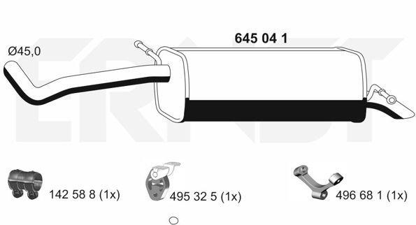 Endschalldämpfer ERNST 645041