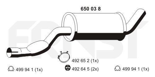 Mittelschalldämpfer ERNST 650038