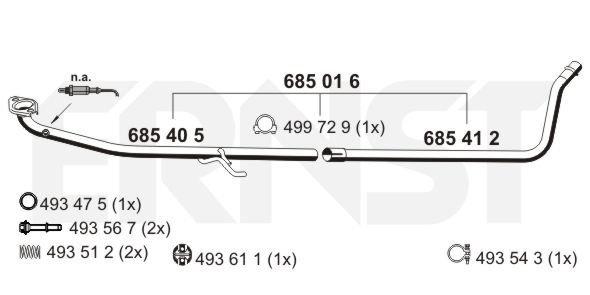 Abgasrohr mitte ERNST 685016