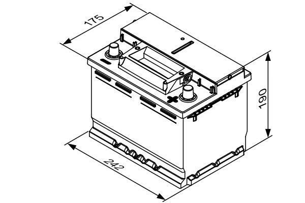 Starterbatterie 12 V 60 Ah BOSCH 0 092 S4E 051 Bild 4