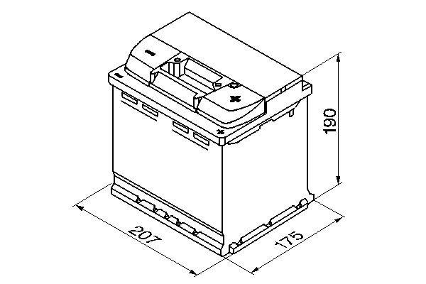 Starterbatterie 12 V 54 Ah BOSCH 0 092 S50 020 Bild 4