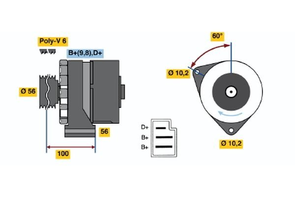 Generator BOSCH 0 986 033 810