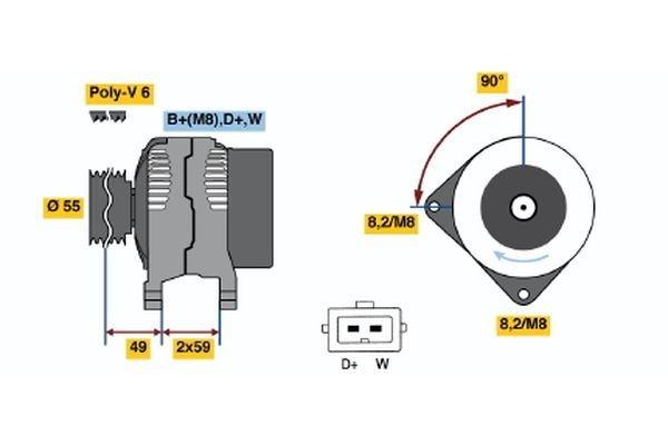 Generator BOSCH 0 986 038 390