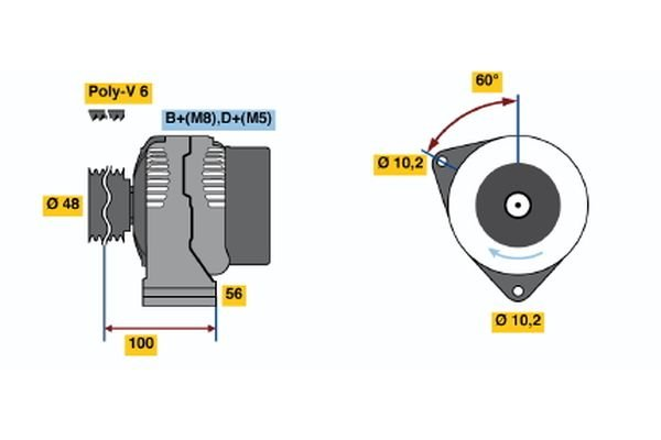 Generator BOSCH 0 986 038 160