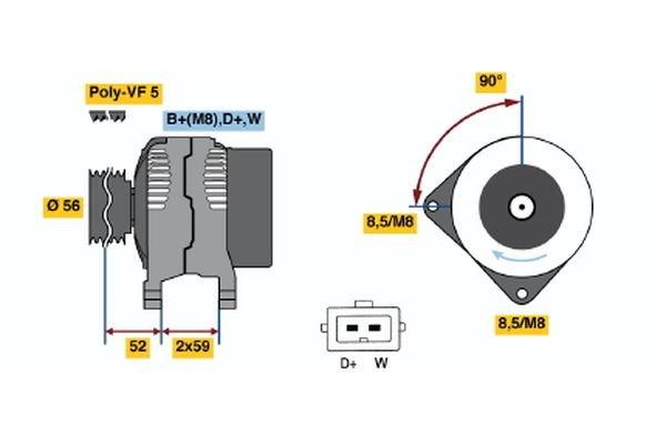 Generator BOSCH 0 986 040 880