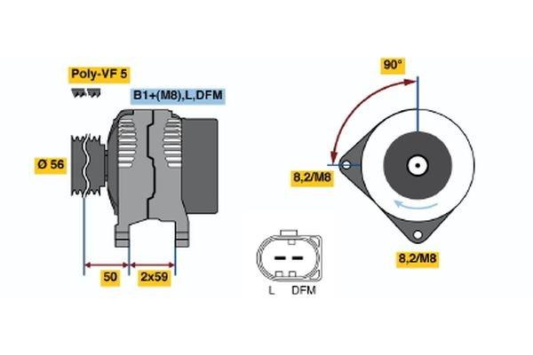 Generator BOSCH 0 986 042 710