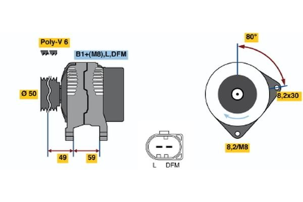 Generator BOSCH 0 986 041 310