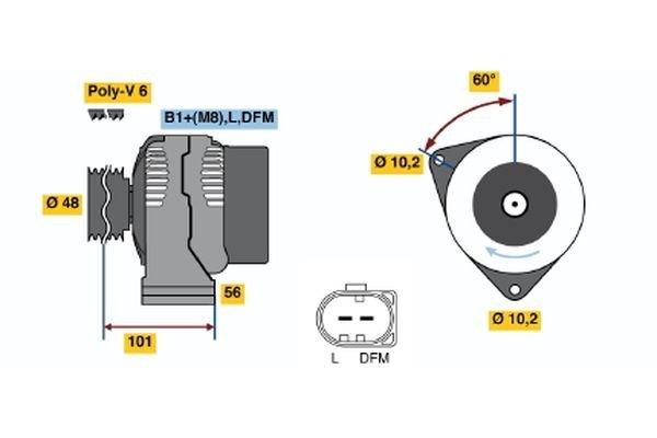 Generator BOSCH 0 986 042 540