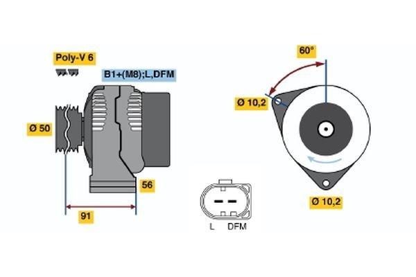 Generator BOSCH 0 986 047 530