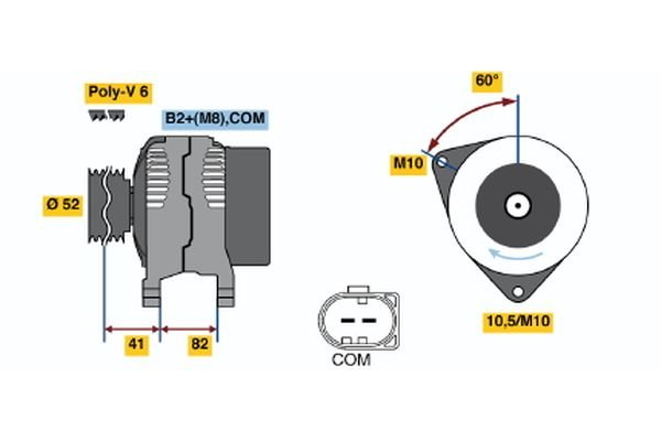 Generator BOSCH 0 986 048 090