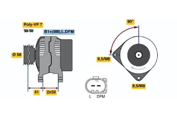 Generator BOSCH 0 986 047 450