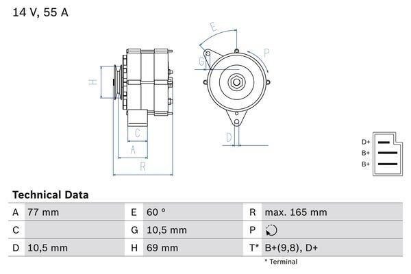 Generator BOSCH 0 986 031 400
